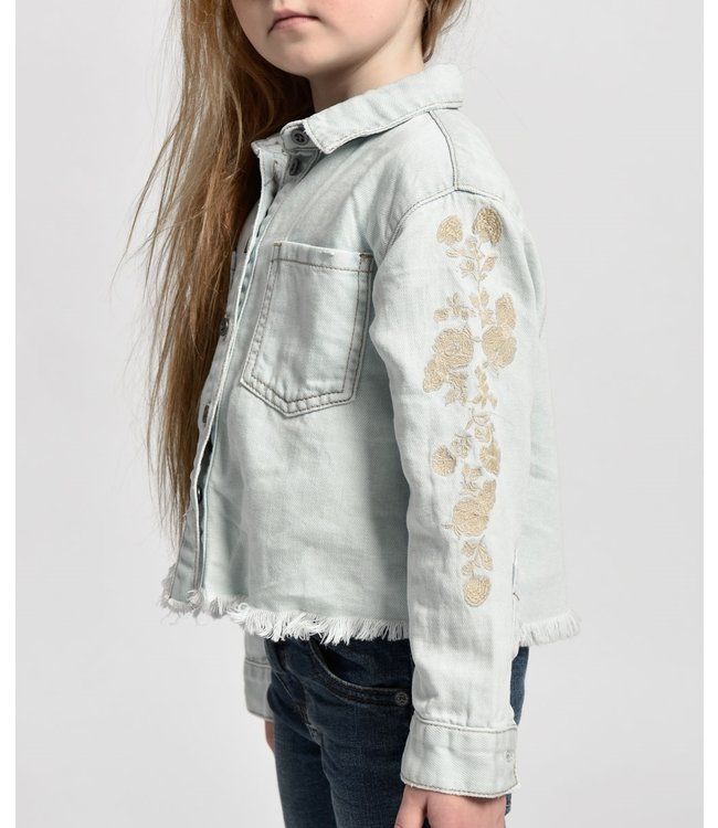 ONE X ONETEASPOON ONE X ONETEASPOON Kids Montana Cropped Linen Shirt