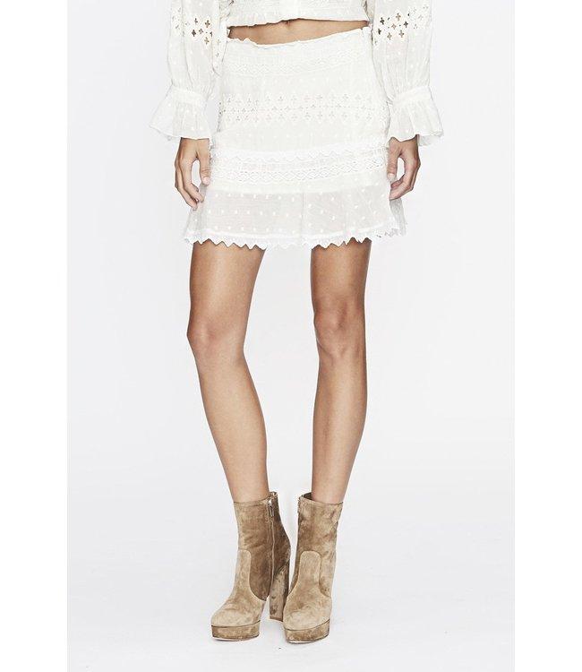 Love Sam Diamond Embroidery Mini Skirt-Ivory