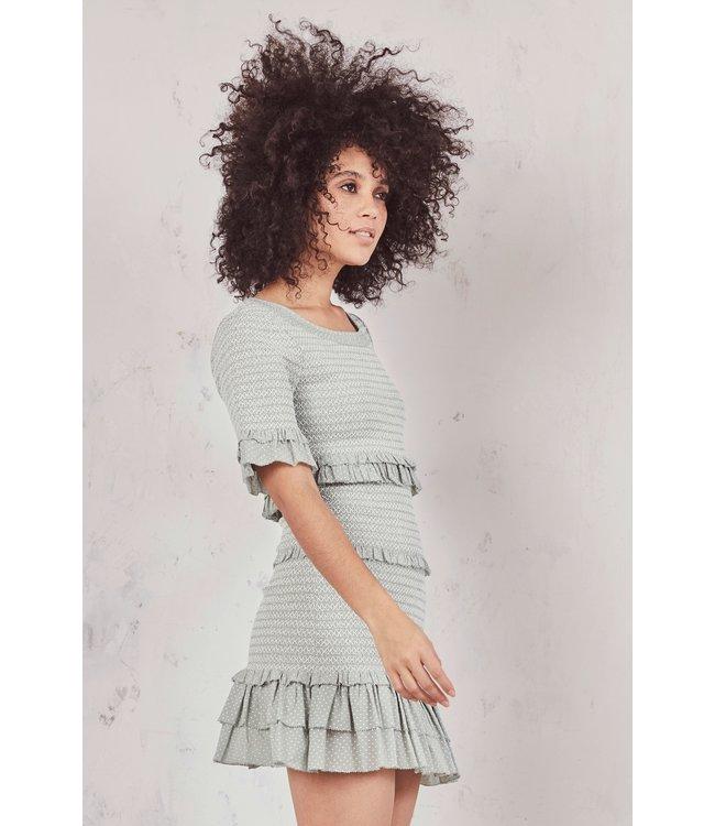 Love Shack Fancy Love Shack Fancy Aveline Dress- Seaglass