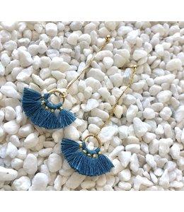 FINE Label Nellie Earring-Steel Blue