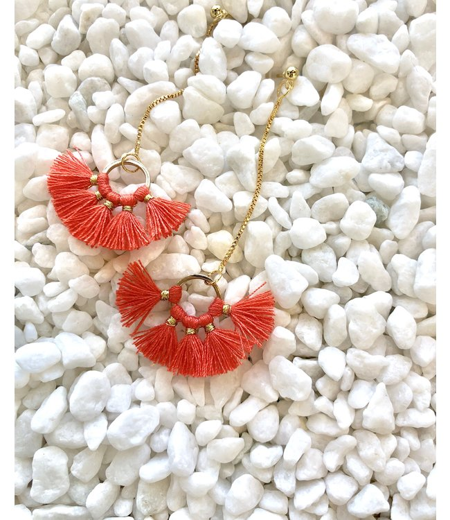 FINE Label FINE Label Nellie Earring-Coral