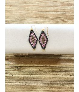 FINE Label Dreamer Drop Earring-Pink & Grey