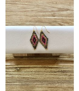 FINE Label Dreamer Drop Earring-Pink & Gold