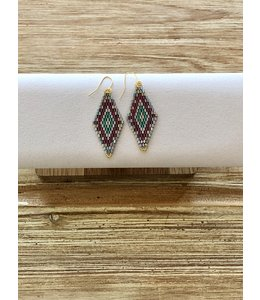 FINE Label FINE Label Dreamer Drop Earring-Blue & Pink