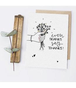 Greta Jane Paper Co Even Skanks Say Thanks