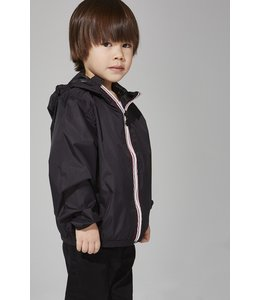 O8 Lifestyle O8 Lifestyle Kids Full Zip Rain Jacket-Black