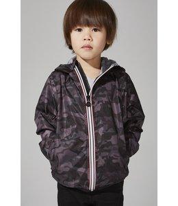 O8 Lifestyle O8 Lifestyle Kids Full Zip Rain Jacket-Black Camo