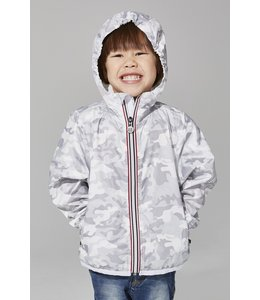O8 Lifestyle O8 Lifestyle Kids Full Zip Rain Jacket-White Camo