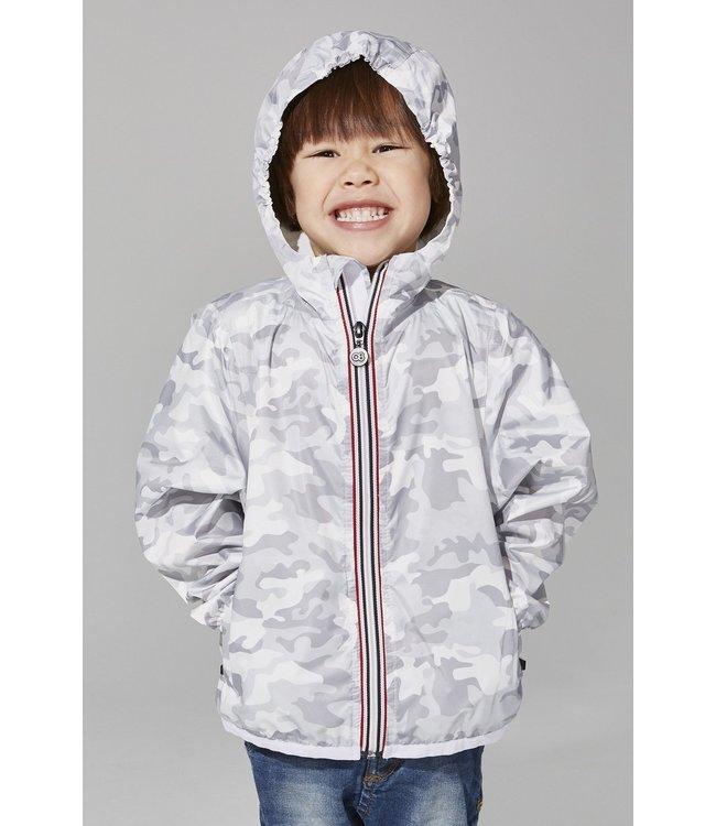 O8 Lifestyle O8 Lifestyle Kids Full Zip Rain Jacket-White Camo