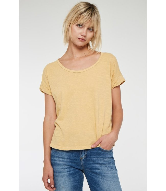Project Social T Project Social T Sibel Twist Sleeve Tee-Mimosa