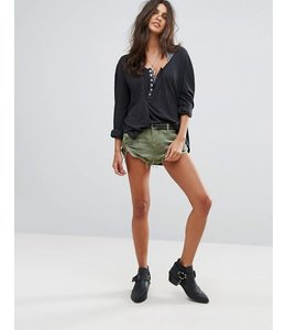 ONE X ONETEASPOON Bandits Denim Short-Military