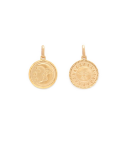 """Melanie Auld Melanie Auld Sun and Moon Medallion + 16"""" Box Chain"""