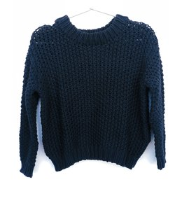 One Grey Day Nico Pullover-Navy