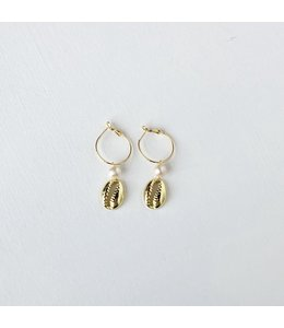 FINE Label FINE Label Pearl Puka Drop Earring