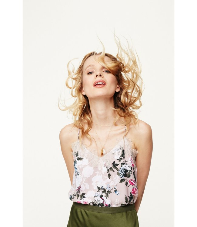 CAMI NYC CAMI NYC Racer Georgette Cami-Carnation