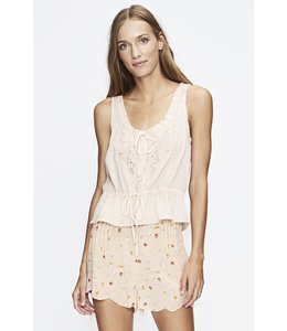 Love Sam Chateau Embellished Drawstring Tank-Sorbet