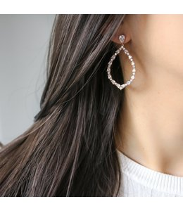 Statement Grey Petales Earring