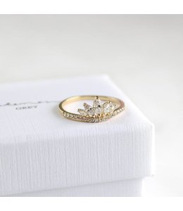 Statement Grey Izzie Ring