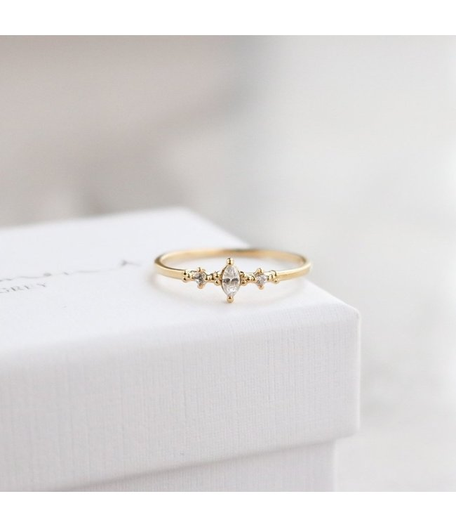 Statement Grey Avalon Ring