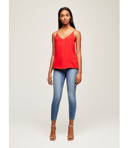 L'AGENCE Gabriella V Neck Tank-Engine Red