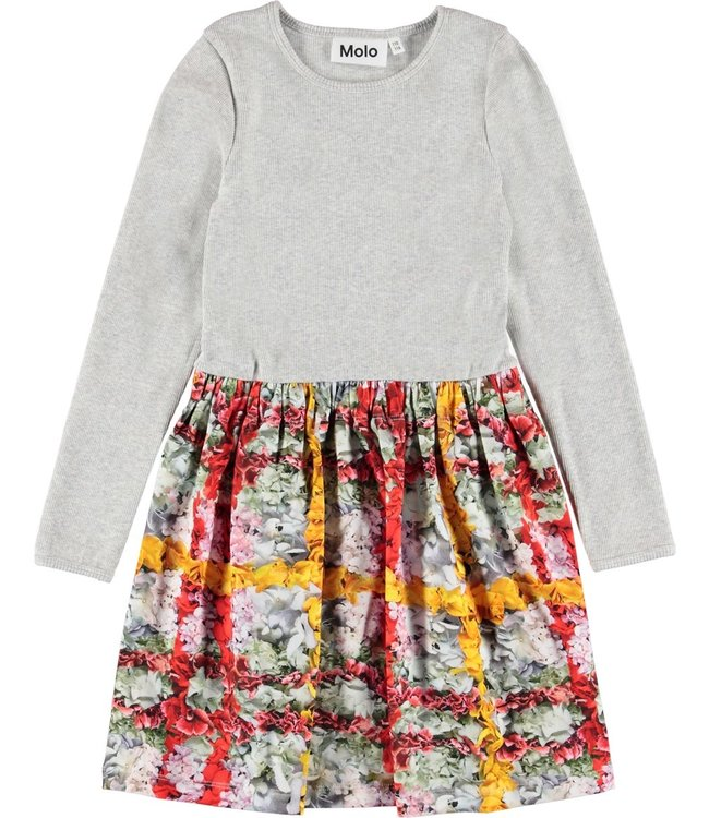 Molo Credence Dress-Checked Flowers