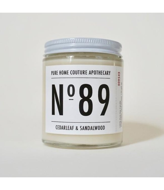 Pure Home Couture Apothecary Number Candle Cedarleaf & Sandalwood No.89