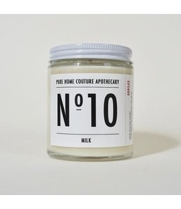 Pure Home Couture Apothecary Number Candle Milk No.10