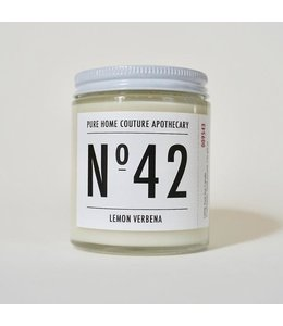 Pure Home Couture Apothecary Number Candle Lemon Verbena No.42