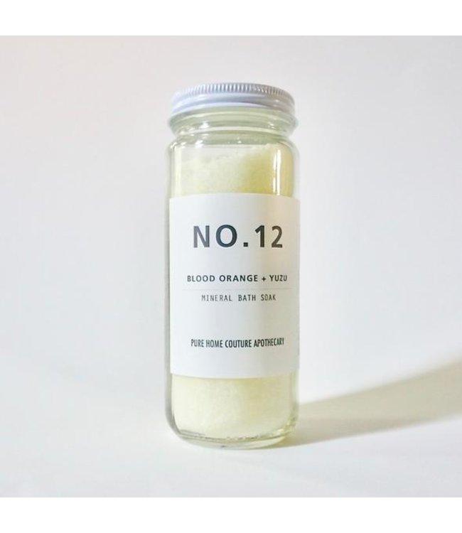 Pure Home Couture Apothecary Mineral Bath Soak Blood Orange + Yuzu No.12