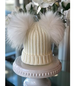 FINE Label The Drew Double Pom Toque