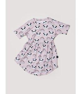 HUX BABY Rainbow Panda Swirl Dress