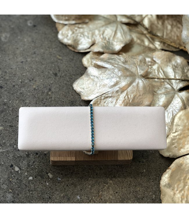 FINE Label  Mini Tennis Bracelet-Blue
