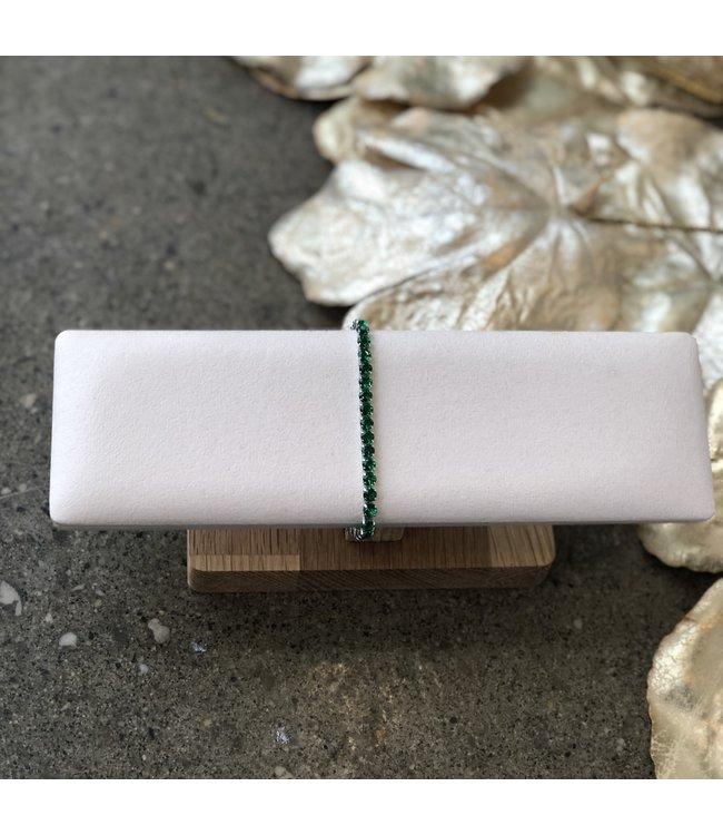 FINE Label Mini Tennis Bracelet-Green