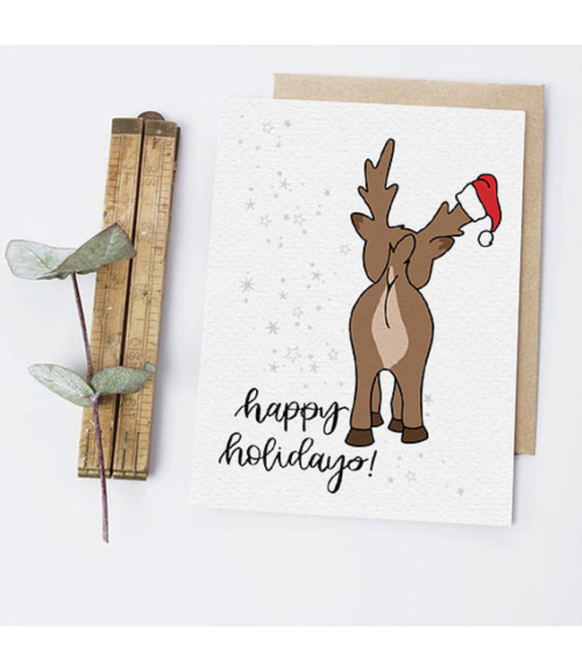 Greta Jane Paper Co Reindeer Butt
