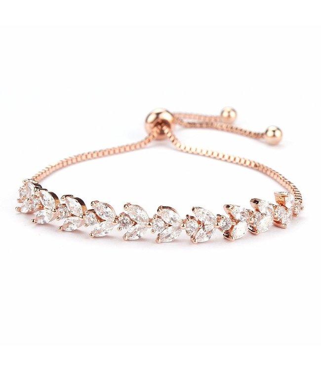 FINE Label Adjustable Crystal Bracelet