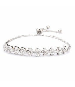 FINE Label Adjustable Crystal Bracelet