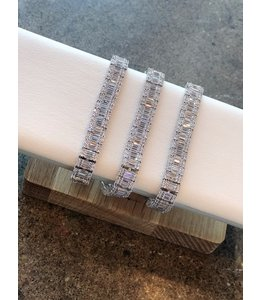 FINE Label Double Baguette Tennis Bracelet