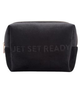MYTAGALONGS Vixen Large Cosmetic Pouch-Black Velour