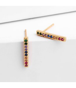 FINE Label Rainbow Bar Stud