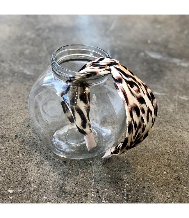Leopard Headband-Tan