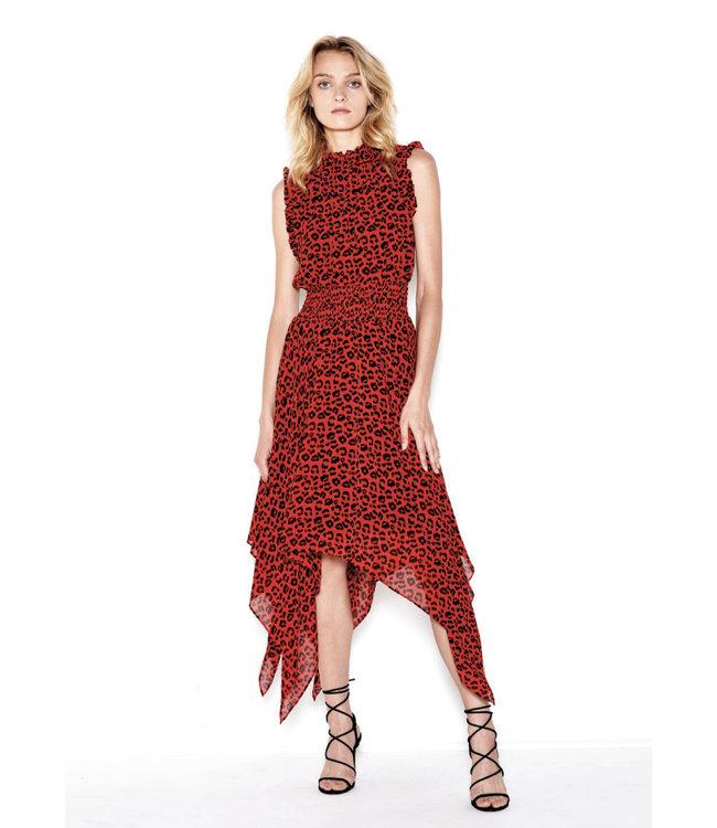SEN Jael Ruffled Midi Dress