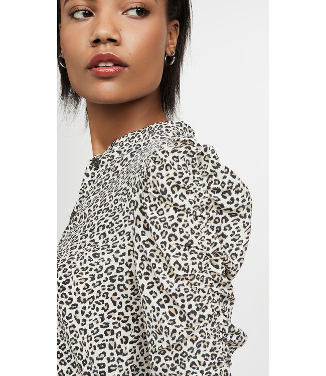 FRAME Silk Shirred Short Sleeve