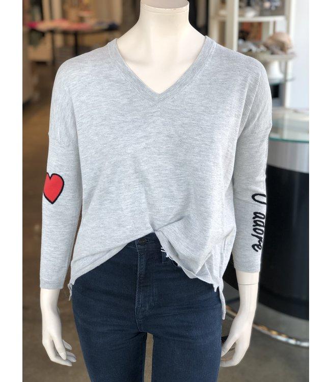 Brodie Cashmere Zoey Stripe Sweatshirt