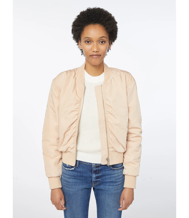 FRAME  Shirred Button Up Bomber