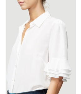 FRAME Ruffle Sleeve Top