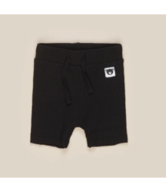 HUX BABY Black Rib Shorts