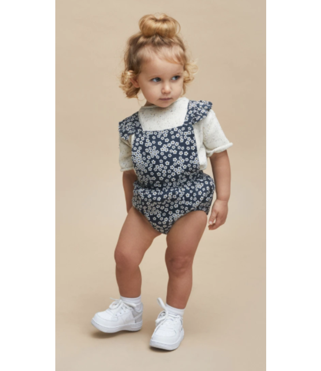 HUX BABY Flower Frill Playsuit