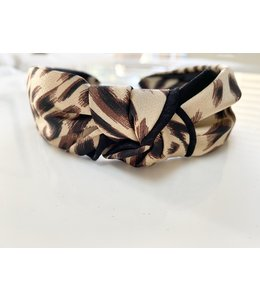 Silk Leo Knot Headband