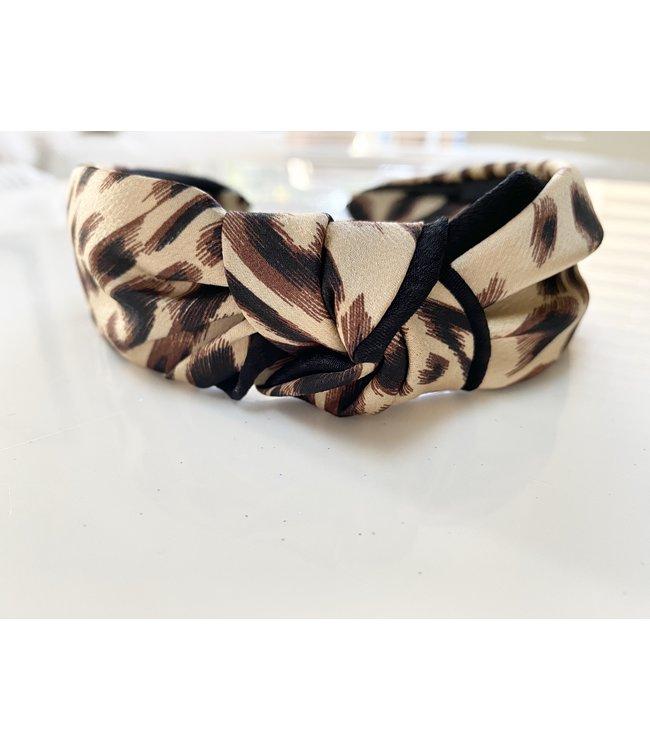 Silk Leo Knot Headband