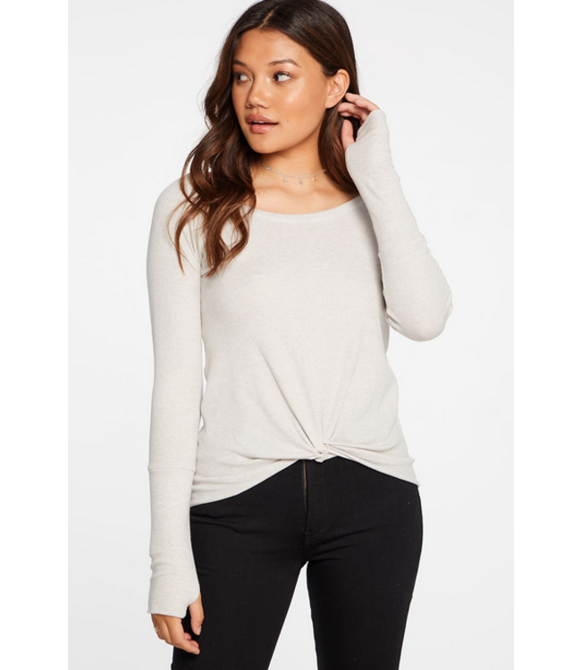 CHASER Chaser Ribbed Front Knot LS